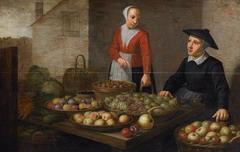 Schilderij Fruitmarkt