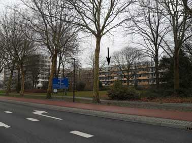 Willem Back flat vanaf Liornestraat gezien