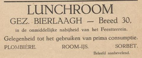 advertentie - Lunchroom - Gez. Bierlaagh