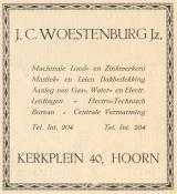advertentie - J. C.  Woestenburg Jr. - Machinale lood en zinkwerkerij