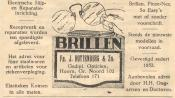 advertentie - Fa. J. Ruttenberg & Zn. - Gediplomeerd Opticien