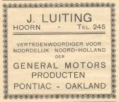 advertentie - J. Luiting -  General Motors Producten