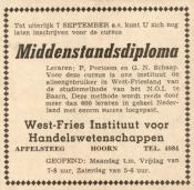 advertentie - West-Fries Instituut voor Handelswetenschappen