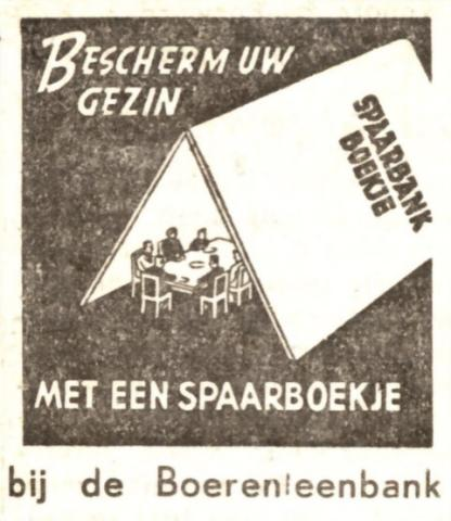 Boerenleenbank - Advertentie stuk ...