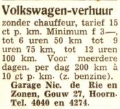 advertentie - Nic. de Rie en Zonen - Garage