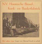 advertentie - N.V. Hoornsche Brood-, Koek- en Banketfabriek