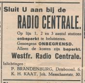 advertentie - Westfr. Radio Centrale