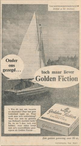 advertentie - Golden Fiction
