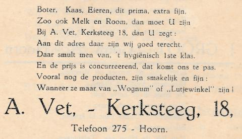 advertentie - A. Vet