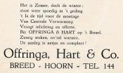 advertentie - Offringa, Hart & Co.