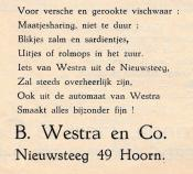 advertentie - B. Westra en Co