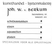 advertentie - Joh. v. BERKUM