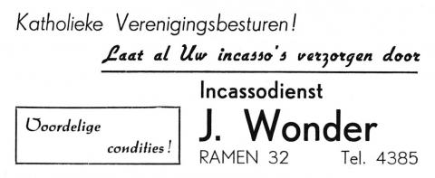 advertentie - J. Wonder