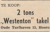 advertentie - Westenton takel