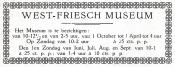 advertentie - West-Friesch Museum.