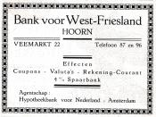 advertentie - Bank voor West-Friesland