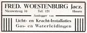 advertentie - Fred. Woestenburg Jacz.