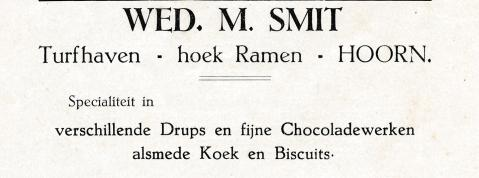advertentie - Chocolaterie Wed. M.Smit